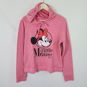 Disney Minnie Mouse Pink Pullover Hooded Sweater